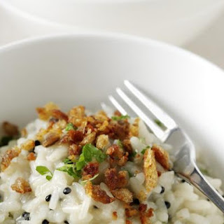 Lemon and Arënkha Msc Risotto With Anchovy-Fried Crumbs