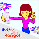 selfie with rangoli