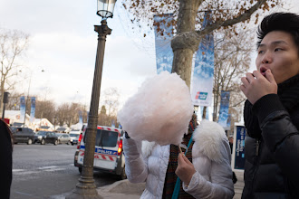 Photo: I like this shot of a cotton candy head girl