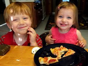 Photo: Mmmm, pizza good... Is there a #wearegrandparents ?