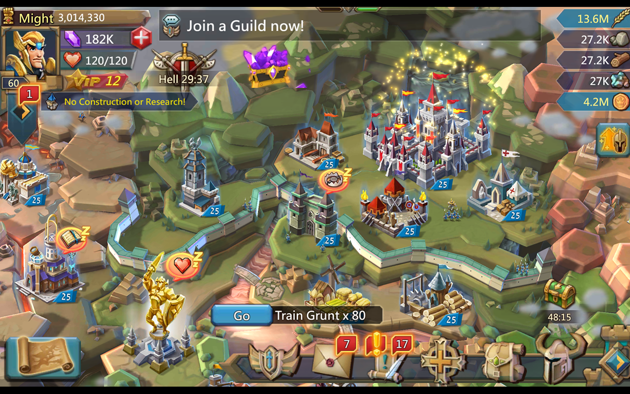 Screenshots of Lords Mobile for Android