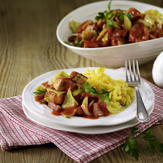 Pork, Bacon and Cabbage Stew.
