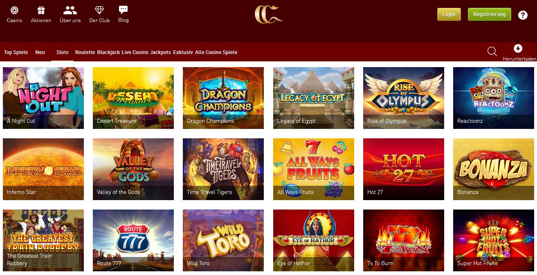 Beste Spiele auf Casino Club online