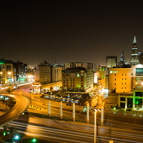 RIYADH KSA by Abdullah Alghamidi - City,  Street & Park  Street Scenes ( night, lights, city )