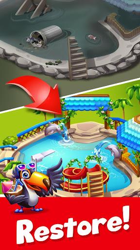 Tropic Trouble Match 3 Builder apkpoly screenshots 3