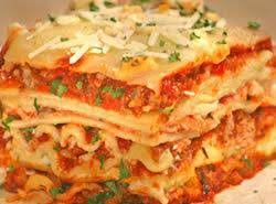 Loaded Four Cheese and Three meat Lasagna