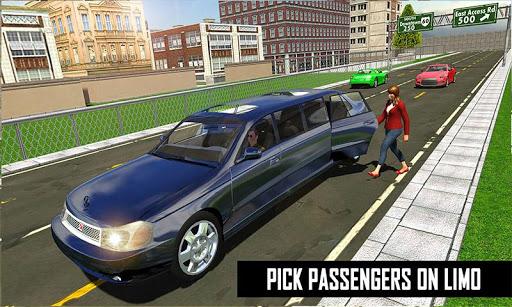 Big City Limo Car Driving Simulator : Taxi Driving 3.8 screenshots 8