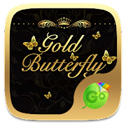 Gold Butterfly Keyboard Theme 4.2 Icon