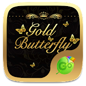Gold Butterfly Keyboard Theme