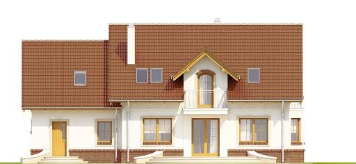 Dom Dla Ciebie 1 w3 z garażem 2-st. A1 - Elewacja tylna
