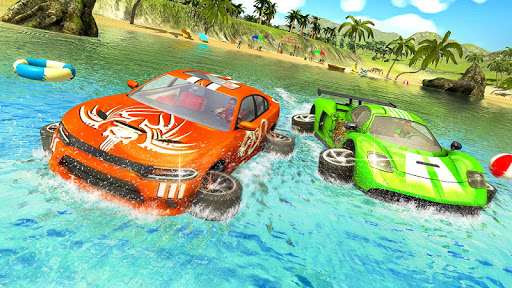 Water Surfer car Floating Beach Drive screenshots 2