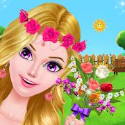 Flower girl date makeover - Garden decoration