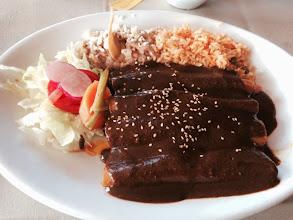 Photo: Mole enchiladas
