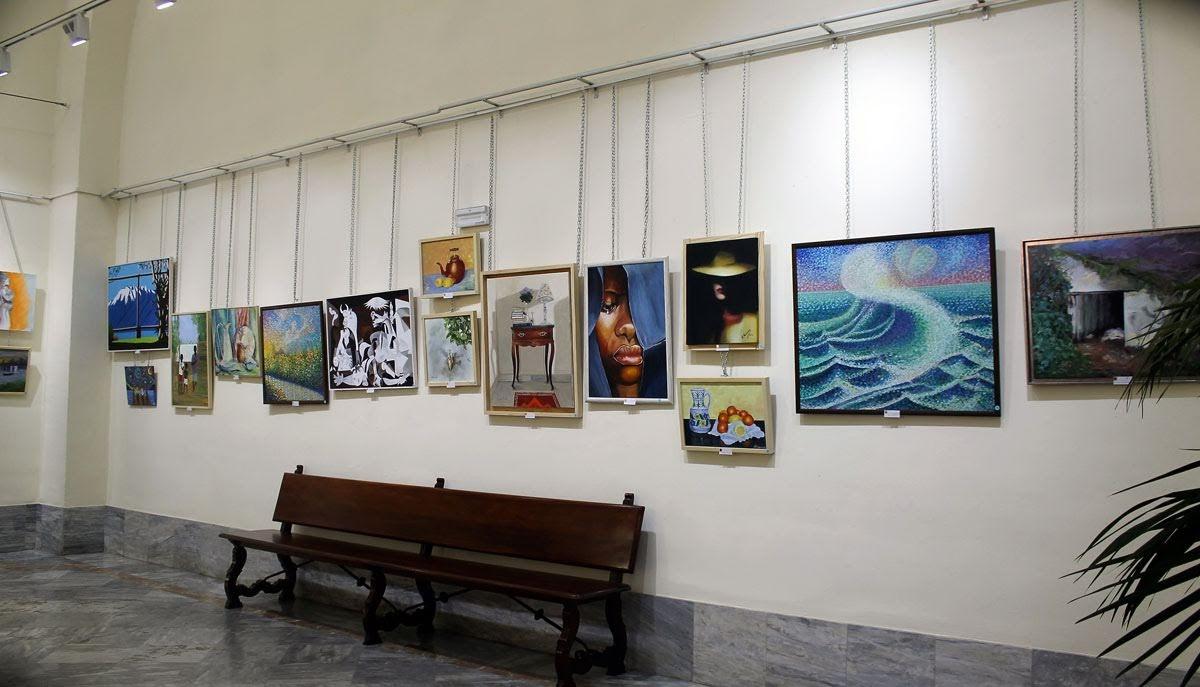 Imagen de algunas de las pinturas presentadas a concurso