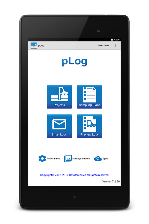 pLog Tablet- screenshot
