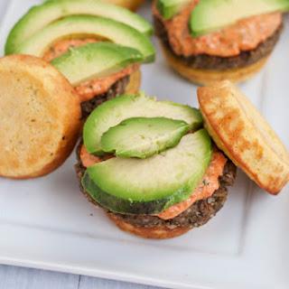 Grain-free Egg-free Plantain Veggie Burger With Tahini Basil Pepper Sauce