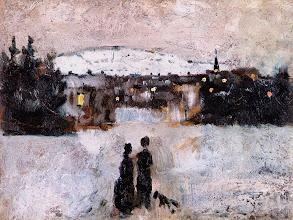 "Photo: Edvard Munch, ""Paesaggio invernale all'alba"" (1881-1882)"