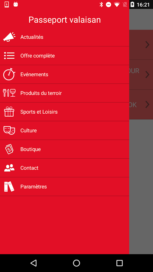 Passeport valaisan- screenshot