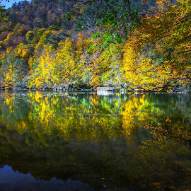 Reflections on Seven Lakes by Arif Sarıyıldız - Landscapes Travel ( fall, turkey, bolu, travel, seven lakes, colorful )