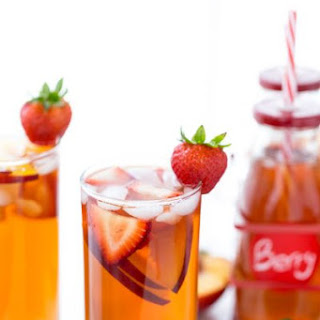 Strawberry Peach Iced Tea