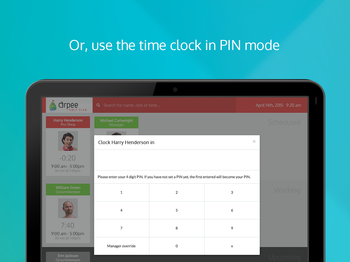 Ento Time Clock- screenshot