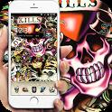 skull Street Graffiti theme icon