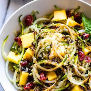 Zesty Mango Spiralized Cucumber Salad and Spiralizer Salad Favorites!.
