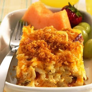 Hash Brown Potato and Egg Bake.