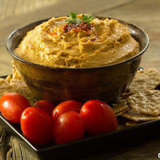 Roasted Garlic & Harissa Hummus