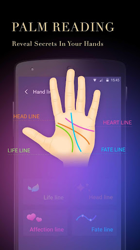 Screenshot for Horoscope & Palm Master-Palm Scanner and Aging in United States Play Store