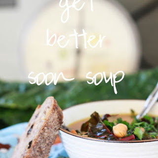 Quick Chicken Chickpea Soup.