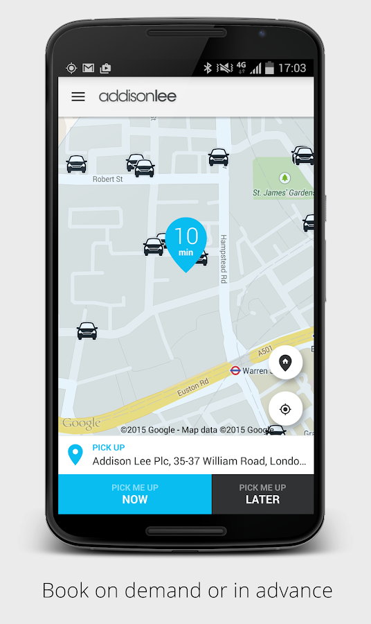Addison Lee – London Minicabs- screenshot