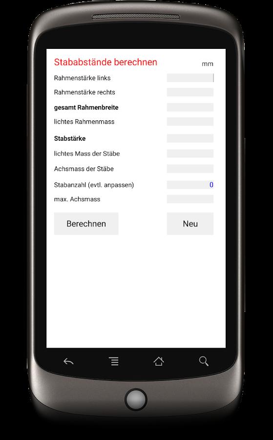 stababst nde berechnen android apps auf google play. Black Bedroom Furniture Sets. Home Design Ideas