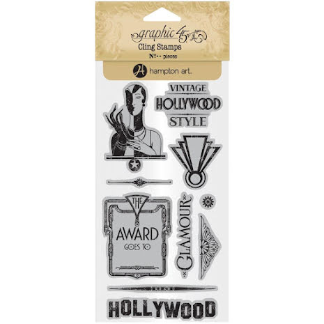 Graphic 45 Cling Stamps - Hollywood Stamps 3 UTGÅENDE