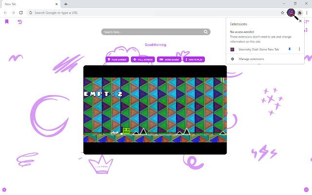 Geometry Dash Game New Tab