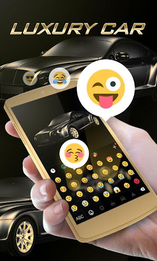 Luxury Car GO Keyboard Theme screenshot