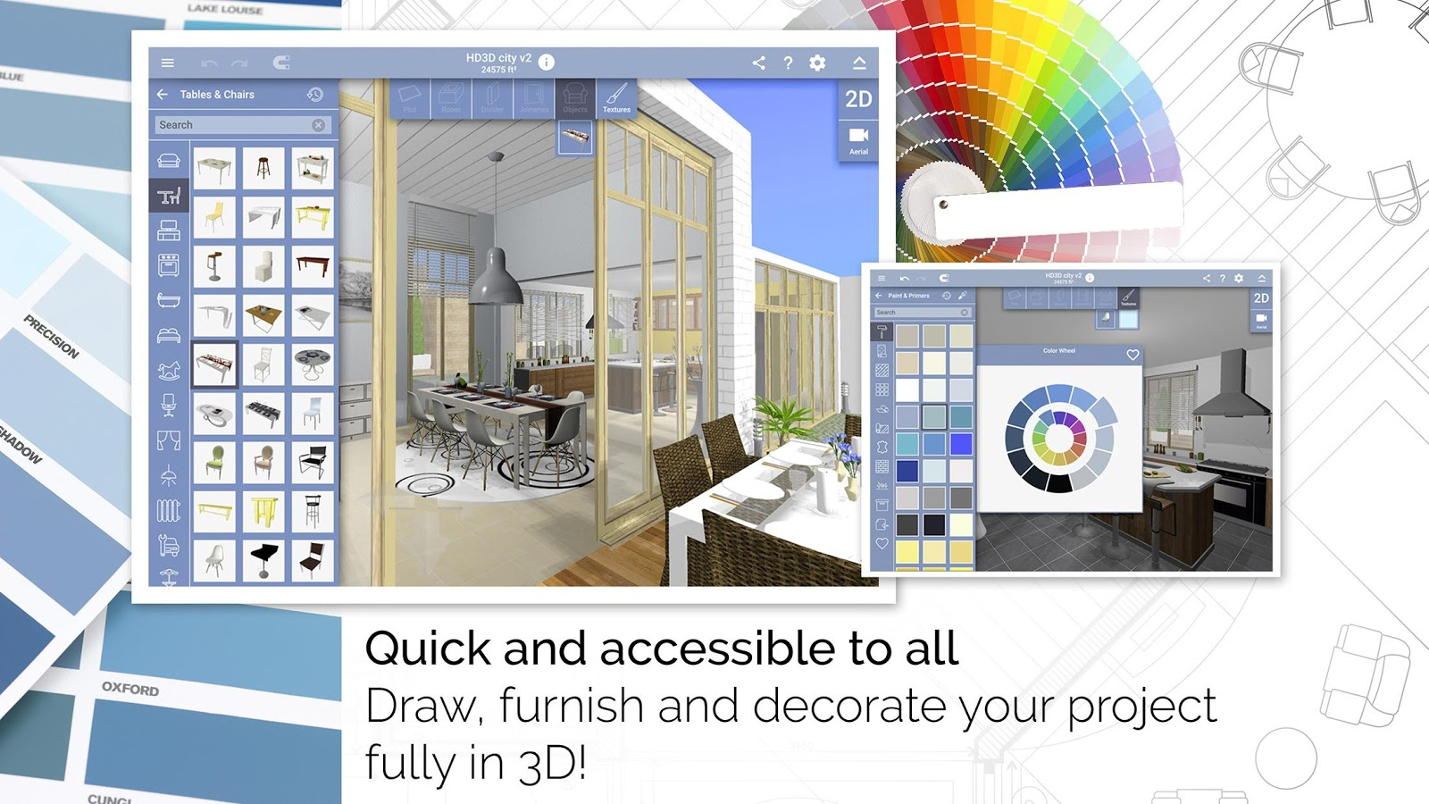 Home design 3d freemium android apps on google play for Home decorating app