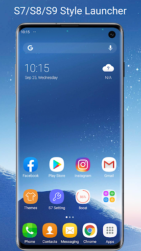 S7/S8/S9 Launcher for Galaxy S/A/J/C, S9 theme screenshots 1