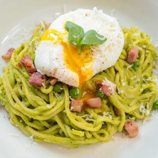 Pea and Pancetta Spaghetti Recipe