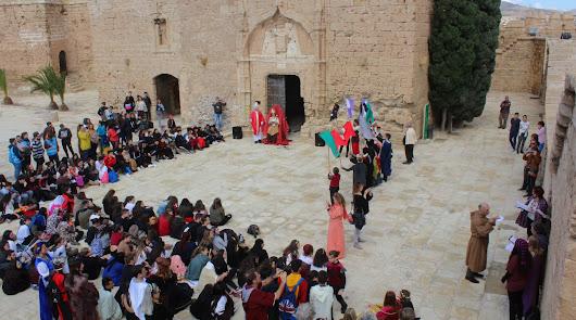 Recreación vikinga en la Alcazaba con el IES Argar y el Coro Ciudad de Almería