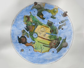 """Photo: My new map, completed: Gliese 581g, or """"Zarmina,"""" in the """"eyeball Earth"""" climate case."""