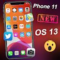 iLauncher iphone 11 max pro ios 13 Theme Wallpaper icon