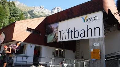 Photo: Feljárat Európa leghosszabb függőhídjához /Triftbahn/
