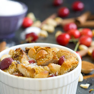 Cherry and Macadamia Nut English Muffin French Toast for Two