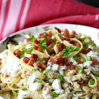 Fettuccine with Crab and Pancetta Recipe