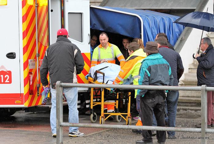 Resultado de imagen de ambulancia futbolasturiano
