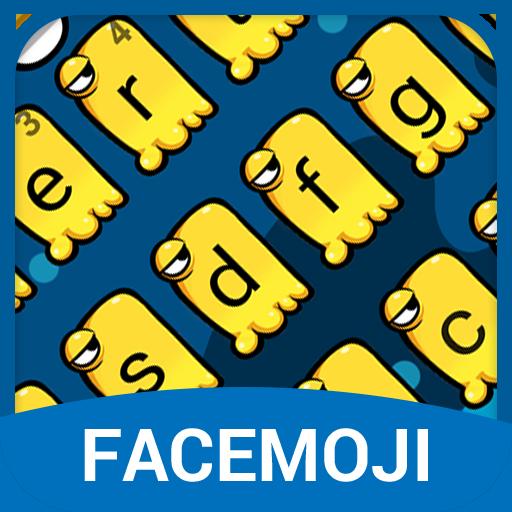 Yellow Monster Anime Emoji Keyboard Theme