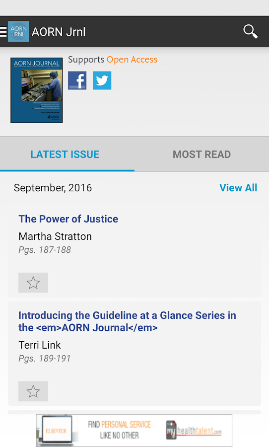 AORN Journal- screenshot