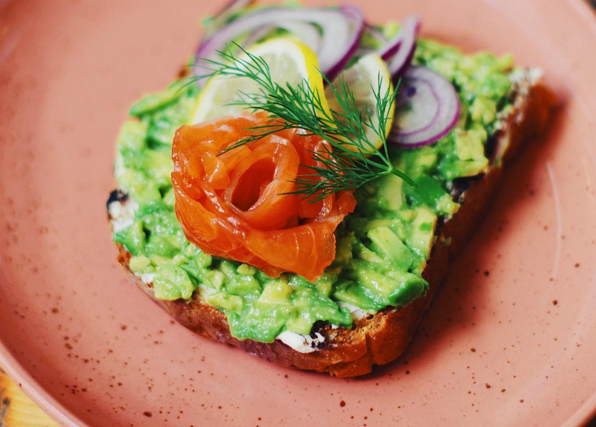 Tuna-salmon salad sandwich