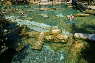 "Photo: ""cleopatra's pool"" at pamukkale, it's filled by spring water"